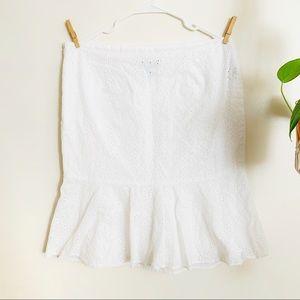 Eyelet Cotton Skirt